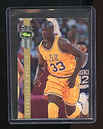 1992 Classic Four Sport LPs LP8 Shaquille ONeal LSU Tigers Rookie Card