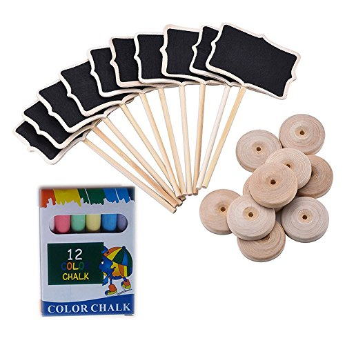 Mini Chalkboard With Stand Message Board Signs Buffet Labels For Party 10 Pcs