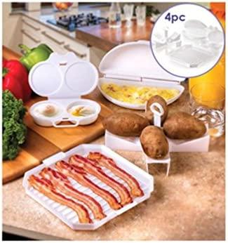 4 pc Set de iniciación de microondas huevos Bacon patatas ...