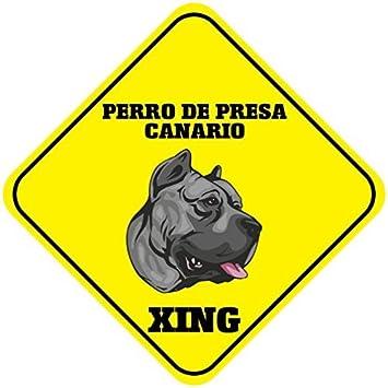 WenNuNa Perro de Presa Canario Xing Metal Aluminio Novedad ...
