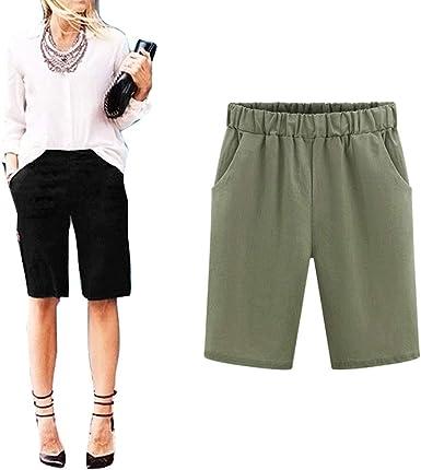 Bermudas Flojas De Las Cortos Mujeres Pantalones Elásticos Cómodos ...