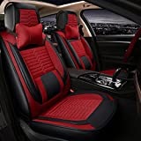 JYB PU Leather Car Seat Cover Cushions Front Rear Full Set Suitable for year round use