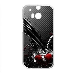 ZXCV Creative Black Pattern Custom Protective Hard Phone Cae For HTC One M8