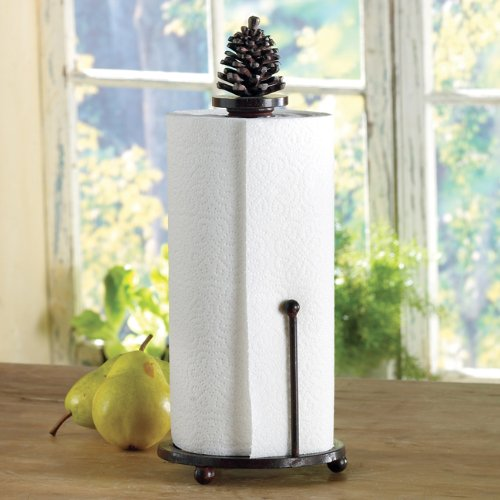 Pinecone Tableware - Metal Pinecone Paper Towel Holder - Rustic Dining Tableware