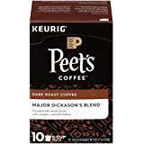 Peet's Coffee, Major Dickason's Blend, Dark Roast, K-Cup Pack (10 ct), Single Cup Coffee Pods, Rich, Smooth & Complex Dark Roast Blend, with Full Bodied & Layered Flavor; for All Keurig K-Cup Brewers