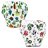 Z-Chen 2 Pack of Baby Reuseable Washable Swim Diapers, Color F
