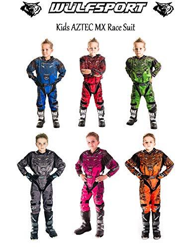 3-4 Yrs, Pink Wulf WULFSPORT CUB KIDS Aztec SHIRTS 2019 Motorbike Motocross ATV Quad MX Pit Sport Junior Jersey Shirt