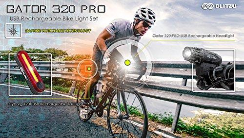 Blitzu Gator 320 Pro Usb Rechargeable Bike Light Set