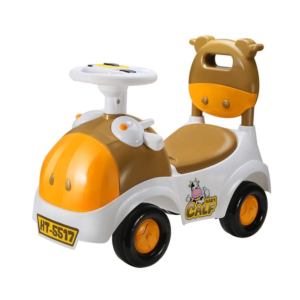Orange Kinder Twist Auto Mit Musik Swing Car Baby 1-3 Jahre Alt Roller Walker Spielzeugauto Yo Auto FANJIANI (Farbe   Orange)