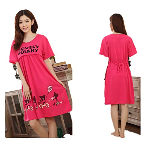 Sexy Clothes Dirance Fashion Pregnant Women Large Cute Bear Lactation Nursing Clothes Maternity Dress (One Size, Hot (Cute Costumes For Pregnant Women)