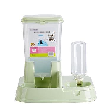 Scrox 1X 2 en 1 Dispensador automático de Alimentos para Perros y Gatos Combinación práctica Multifuncional de Alimentos y bebederos: Amazon.es: Hogar