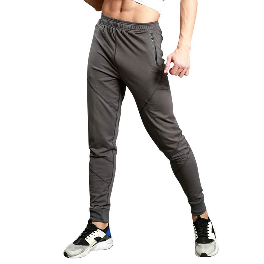 Anguang Uomo Moda Pantaloni della Tuta Pantaloni Sportivo Fitness Vita Elastica Tasche con Zip