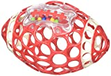 Oball Grab & Rattle Football Baby, Red/White