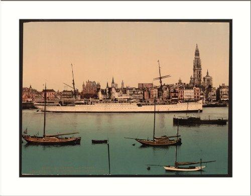 """North German Lloyd steamer """"La Prusse"""" Antwerp Belgium, c. 1890s, (L) Library..."""