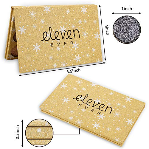 ELEVEN EVER 15 Colors Glitter Eyeshadow Palette, Professional Highly Pigmented and Long-Lasting Mineral Shimmer Makeup Pallet (Gold) by ELEVEN EVER (Image #6)