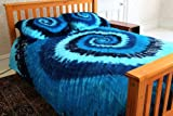 Blue Tie-Dye - 100% Cotton Duvet Cover Set by Brightside - Twin XL
