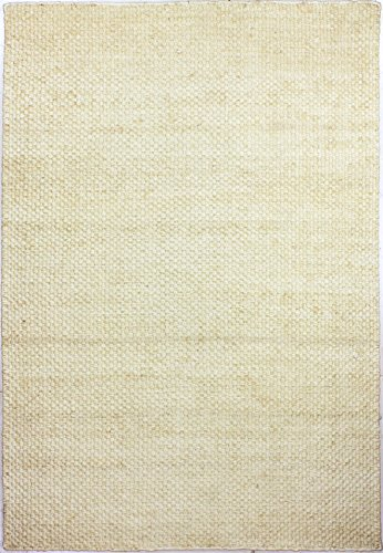 Bashian BN301 Natural Hand Woven Jute Area Rug, 5X7.6, Cream -  Natural Collection, NATURAL BN301