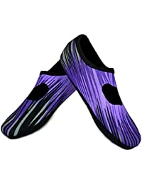 Mary Janes Women's Shoes, Best Foldable & Flexible Flats, Slipper Socks, Travel Slippers & Exercise Shoes, Dance Shoes, Yoga Socks, House Shoes, Indoor Slippers, Purple Aurora, Extra Large