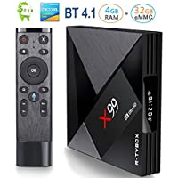 Android TV Box, BetterLife88 X99 RK3399 4GB 32GB Dual-Band WIFI 2.4/5.0 2T2R Bluetooth Android 7.1 TV Box for Home Theater Playing Games (1000 Meter Network Ethernet)