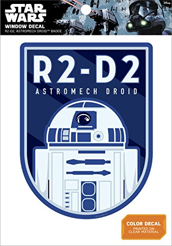 Star Wars R2-D2 Astromech Droid Badge Window Decal Action Figure