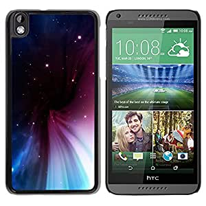 Majestic movimiento de las nubes - Metal de aluminio y de plástico duro Caja del teléfono - Negro - HTC DESIRE 816