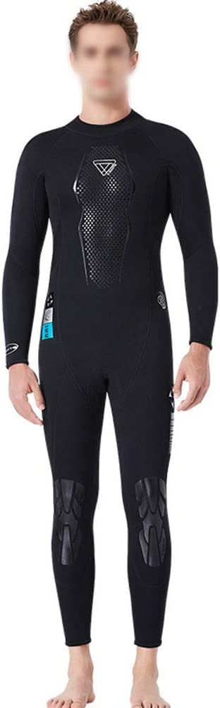 Ocmeacy 3ミリメートル ダイビング スーツ 男性ぬれた暖かいダイビング スーツ長袖 防水 母シュノーケリング 水着 ダイビング スーツ (色 : 黒, サイズ : L) 黒 Large