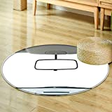 Round Rug Kid Carpet car rear view mirror isolated on white  Home Decor Foor Carpe -Round 59''