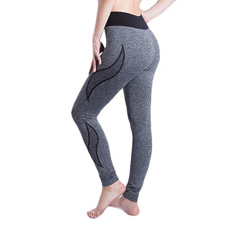 Leggings de Mujer para Gym Pantalones Mallas de Malla Señora ...
