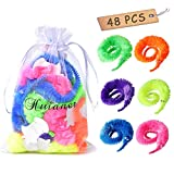 huianer 48 pcs Magic Worm Toys Wiggly Twisty Fuzzy Carnival Party Favors(Random Color)