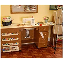 Norma Jean Wooden Sewing Table Desk Finish: Oak