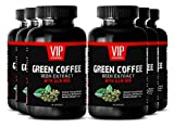 Spirulina tablets - GREEN COFFEE BEAN EXTRACT with GCA 800 - Fat burners for women weight loss (6 Bottles - 360 Capsules)
