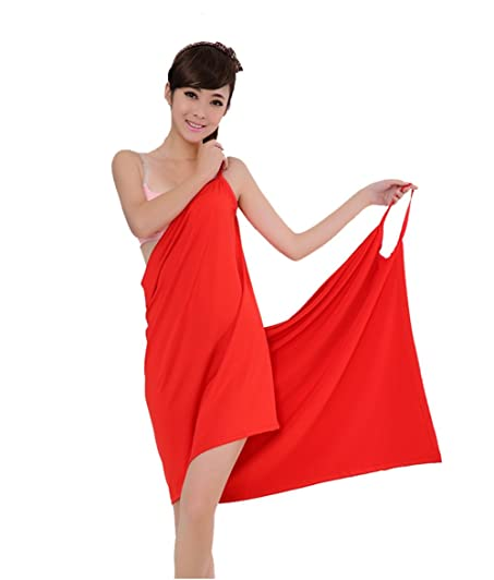 Bath Towels Casual Cute Women Girls One Piece Sexy Sleep Skirt Beach Skirt Ice Silk Ladies