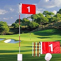 Bospick Golf Flag 6 Feet Golf Flag Pole ...