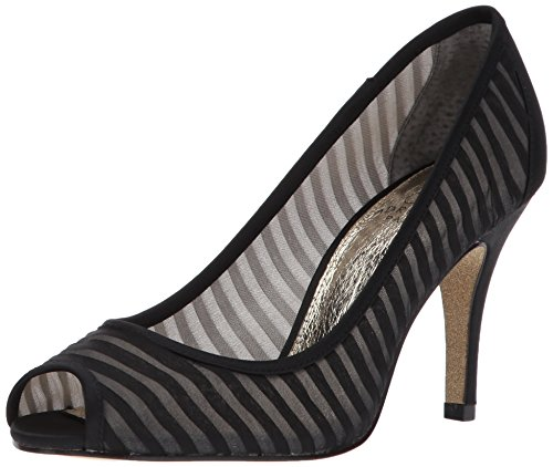 Adrianna Papell Women's Flirt Pump, Black Chiffon, 9 Medium US