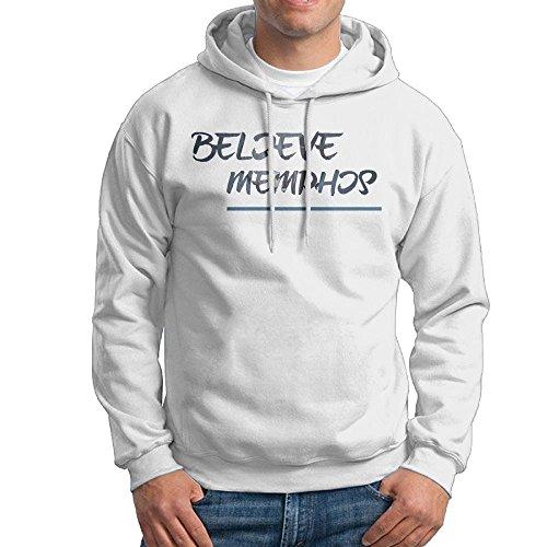 Mens Believe You Memphis Slogan Custom Graphic Long Sleeve Hoodies Hip Hop Sweat Shirt For Men Juniors ()