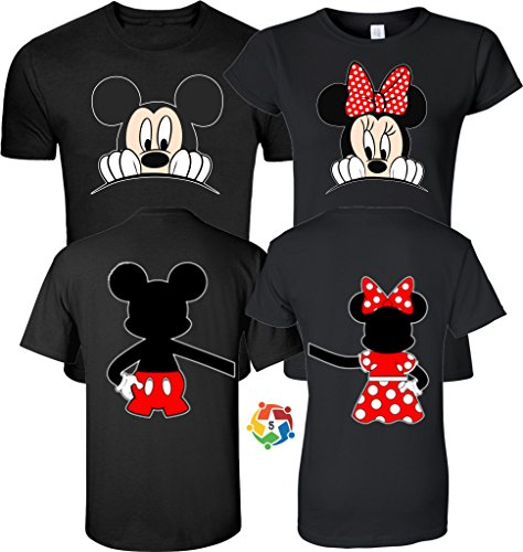 Arts & Designs Mickey & Minnie Valentine's Love Couples Cute Matching Shirts Small Adult Lady Jr -