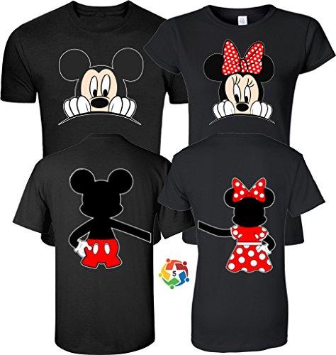 Arts & Designs Mickey & Minnie Valentine's Love Couples Cute Matching Shirts Medium Adult Lady Jr Cut