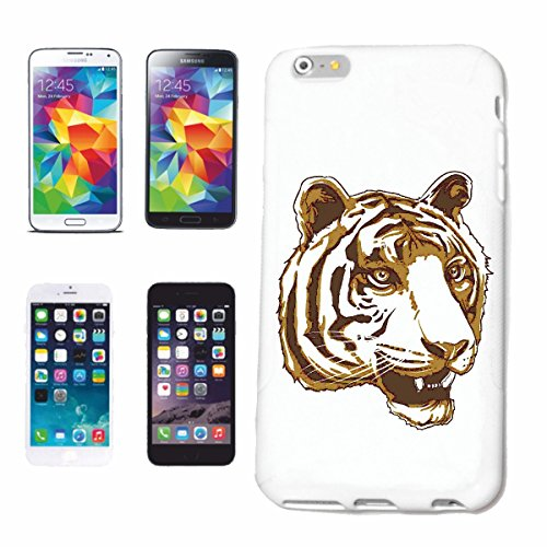 "cas de téléphone iPhone 7S ""TIGER TIGER WILD ANIMAL BIG CAT LEOPARD BIG CAT"" Hard Case Cover Téléphone Covers Smart Cover pour Apple iPhone en blanc"