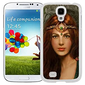 Beautiful And Unique Designed With Girl Princess Red Hair Jewelry Herbs (2) For Samsung Galaxy S4 I9500 i337 M919 i545 r970 l720 Phone Case
