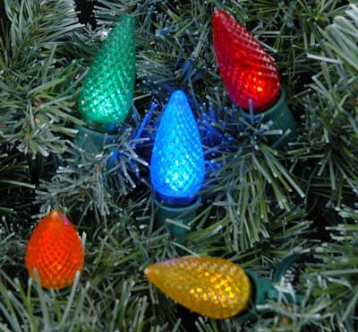 Novelty Lights, Inc. C9 LED Outdoor Patio Party Christmas Replacement Bulbs, 25 Pack