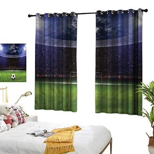 Davishouse Thermal Insulated Drapes for Kitchen/Bedroom Stadium Arena in The Night55 Wx63 L ()