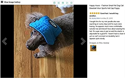 Pet Cap/ Visor with Ear Holes and Chin Strap for Dogs from Happy Hours®