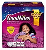 Health & Personal Care : Goodnites Bedtime Underware for Girls Small/medium 62 Count