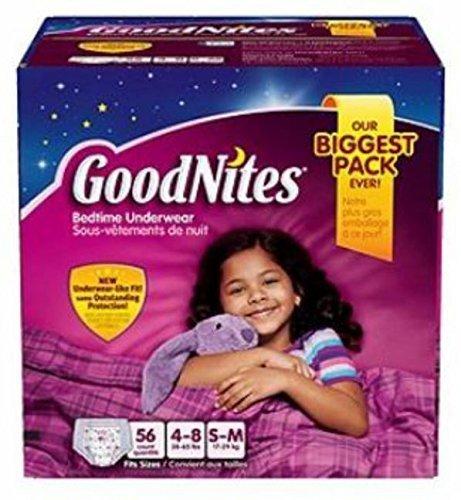 Goodnites Bedtime Underware for Girls Small/medium 62 Count