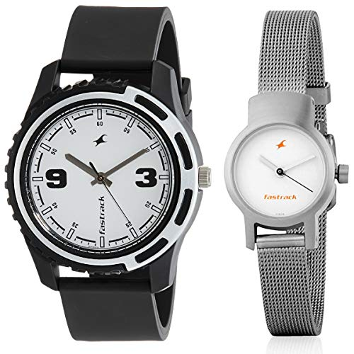 Fastrack Analog White Dial Men's, Women's Watch