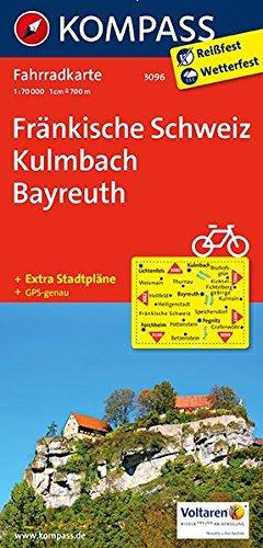 Fränkische Schweiz, Kulmbach, Bayreuth: Fahrradkarte. GPS-genau. 1:70000 (KOMPASS-Fahrradkarten Deutschland, Band 3096)