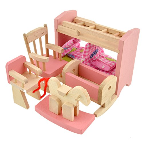 toys, games, dolls, accessories, doll accessories,  furniture 1 discount Vktech Wooden Dollhouse Funiture Kids Child Room Set deals