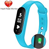 Fitness Tracker Gosund C6 Heart Rate Monitoring Smart Watch with Pedometer Call SMS Reminder for Android and IOS