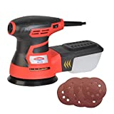 Dobetter RS125 2.8Amp Random Orbit Sander with 6 Pieces Sandpaper, 5-Inch