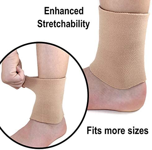 CRS Cross Ankle Gel Sleeves - Padded Skate Socks Ankle Protection (Figure Skating, Hockey, Roller, Inline, Riding, ski or Equestrian Tall Boots)